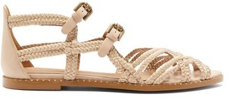 See by Chloe Plaited-strap Caged Leather Sandals - Womens - Beige