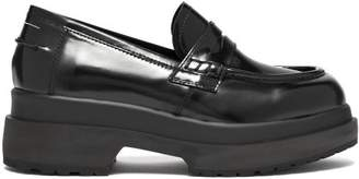 MM6 MAISON MARGIELA Raised Sole Patent Leather Penny Loafers - Womens - Black