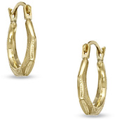 Zales Child's Faceted Hoop Earrings in 14K Gold