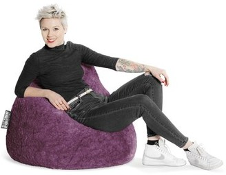 Mack & MiloTM Standard Bean Bag Chair & Lounger Mack & Milo Upholstery Color: Purple