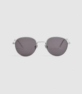 Reiss Rio - Monokel Eyewear Round Sunglasses in Silver