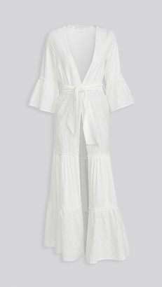 Palmacea Cover Up White Robe