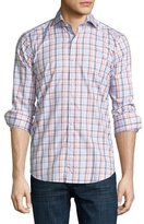 Peter Millar Sonoma Plaid Long-Sleeve Sport Shirt, Clementine