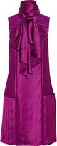 Oscar de la Renta Pleated satin dress