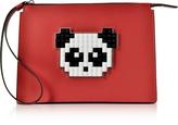 Les Petits Joueurs Color Block Leather Jack Panda Clutch