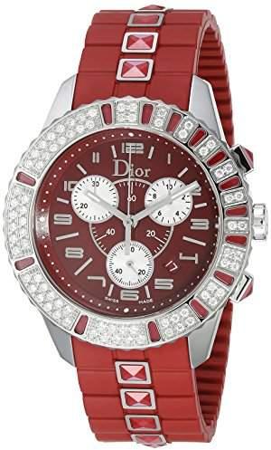 Christian Dior Women's CD11431BR001 Christal Chronograph Diamond Dial Watch