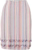 HUGO BOSS Knitted striped pencil skirt