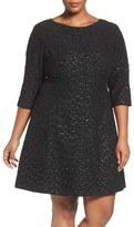 Vince Camuto Plus Size Women's Beaded A-Line Dress