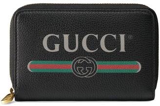 Gucci Print leather card case