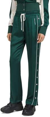The Kooples Piped Side-Snap Drawstring Track Pants