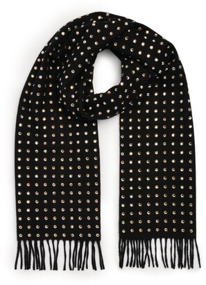 William Sharp Crystal-Embellished Fringe Scarf