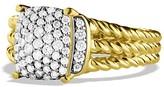 David Yurman Petite Wheaton Ring with Diamonds in Gold