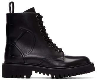 Valentino Black Garavani VLogo Combat Boots