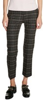 Maje Women's Plaid Ankle Pants