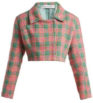 Emilio De La Morena Angeles Cropped Tweed Jacket - Womens - Pink Multi