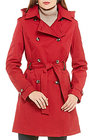 Preston & York-preston york notch collar rain trench coat with detachable hood