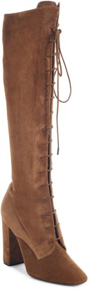 Saint Laurent Laura Over the Knee Lace-Up Boot