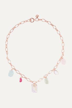Monica Vinader + Caroline Issa Rose Gold Vermeil Multi-stone Necklace