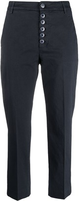 Dondup Painted Button Cropped Chinos