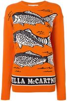 Stella McCartney fishes instarsia jumper - women - Virgin Wool - 40