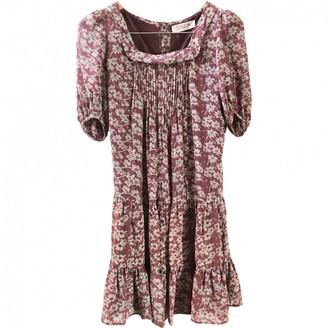 Soon Brown Silk Dress for Women