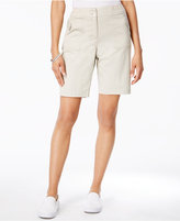 Karen Scott Ribbed-Waistband Bermuda Shorts, Only at Macy's