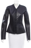 Calvin Klein Collection Collarless Leather Jacket w/ Tags