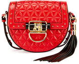 Balmain 44-18 Quilted Napa Tassel Saddle Bag, Red