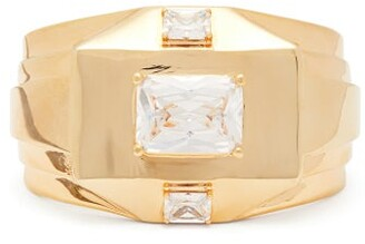 ATTICO The Forza Crystal-embellished Cuff - Womens - Gold
