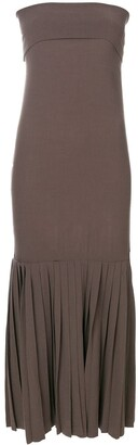 Romeo Gigli Pre Owned Strapless Dress