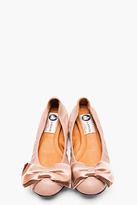 Lanvin Dusty Rose Leather Bow Ballerina Flats