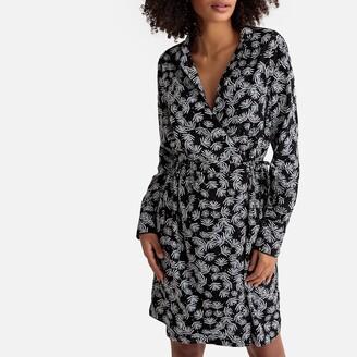 Vila Vifreji Wrapover Dress in Leaf Print