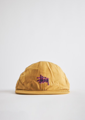 Stussy Basic Stock Bungee Camp Cap in Mustard, Size Small/Medium