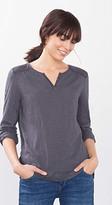 Esprit OUTLET lace-trimmed cotton blend t-shirt