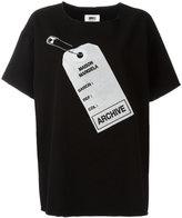 MM6 MAISON MARGIELA archive tag printed T-shirt - women - Cotton - 38