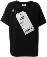 MM6 MAISON MARGIELA archive tag printed T-shirt
