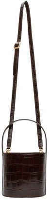 STAUD Brown Croc Bissett Bag
