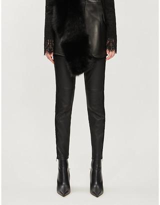 Alexander McQueen High-rise skinny leather leggings