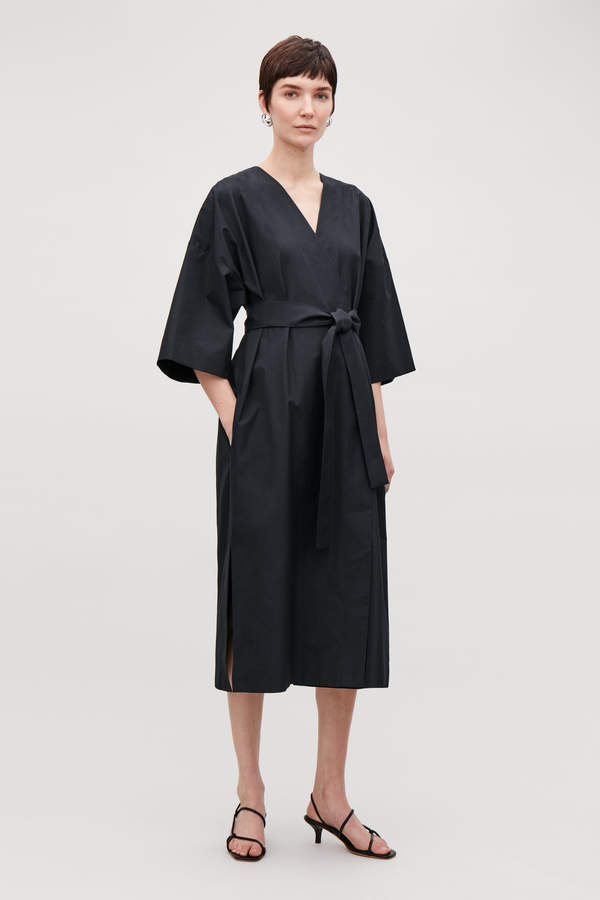 Cos KIMONO-SLEEVED WRAP DRESS