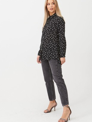 Very Longline Shirt - Star Print