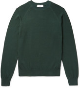 Ami - Waffle-knit Cotton Sweater