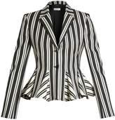 Altuzarra Clary single-breasted striped wool-blend jacket