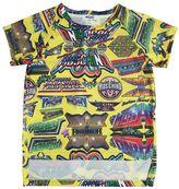 Moschino Logo Printed Mesh T-Shirt