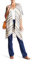 David & Young Metallic Striped Tunic Wrap