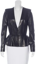 The Row Peplum Leather Jacket