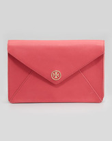 Tory Burch Robinson Envelope Clutch Bag, Red
