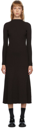 Prada Brown Rib Knit Long Dress