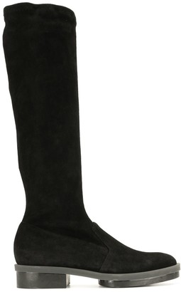 Clergerie Road stretch suede boots