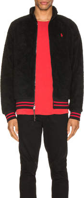Polo Ralph Lauren Vintage Sherpa Track Jacket in Polo Black | FWRD