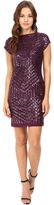 Vince Camuto Sequins Dress with Chiffon Trim
